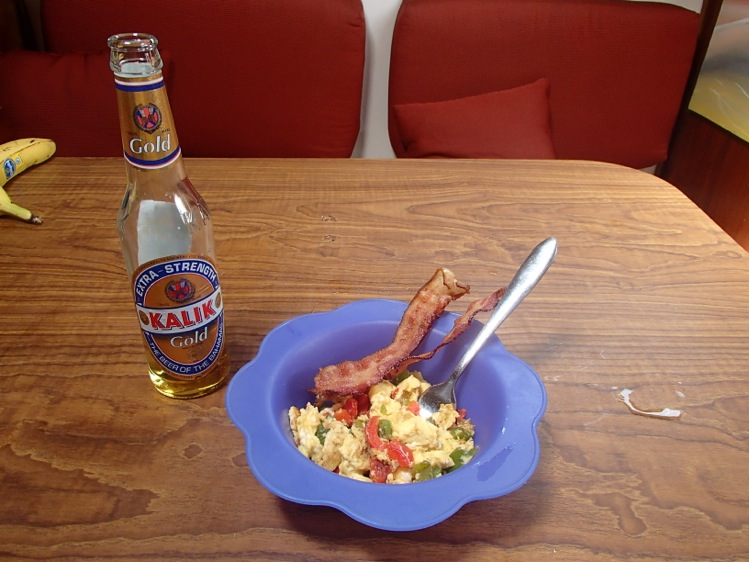 Breakfast of Champs.  Eggs, Bacon and Gold!