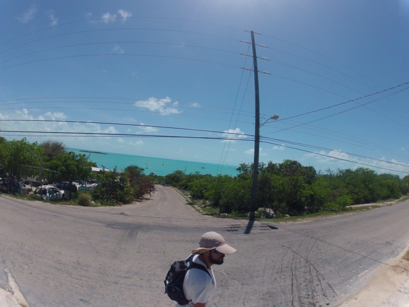 Similar to Rock Sound Eleuthera, you walk a street lining the harbor to get to the market, etc.