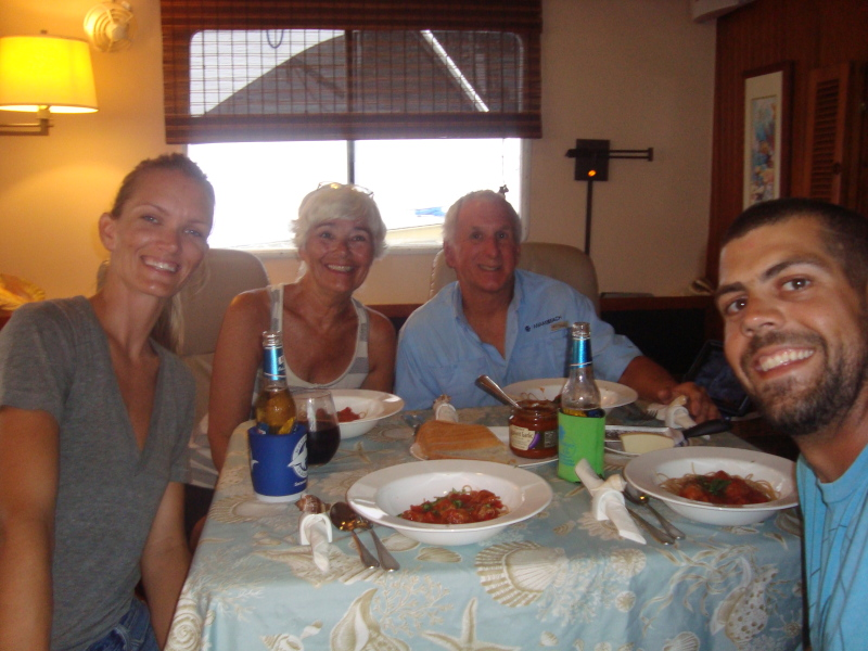 Dottie and Mike (of M/V Cool Beans) would often stop by to invite us to join them for lunch or dinner. This meant so much especially since our boat was torn apart during the engine rebuild. These meatballs were so delish!