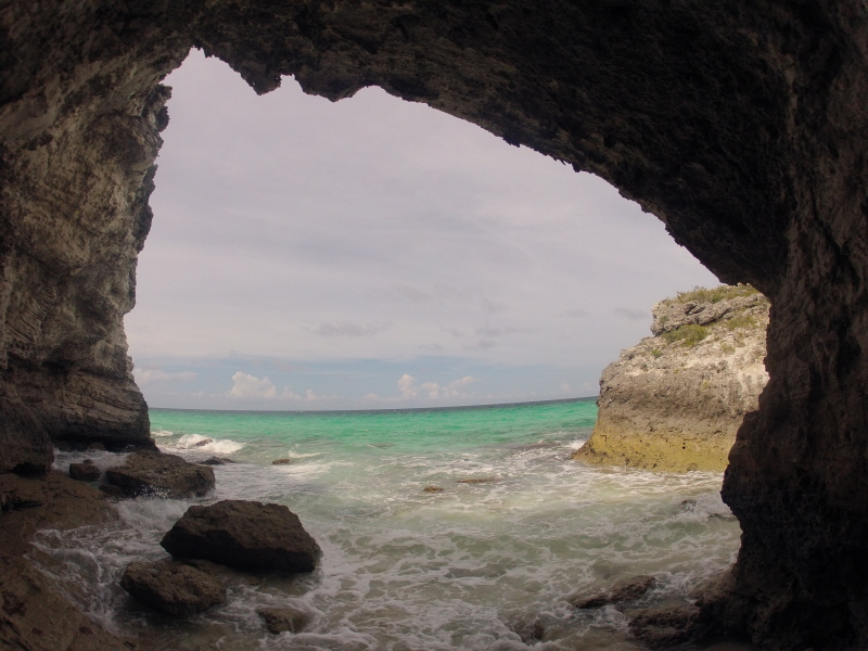 Caves of Great Harbour Cay, Bahamas