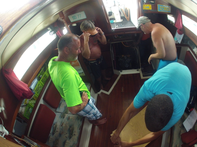 How many boaters does it take to remove an engine?