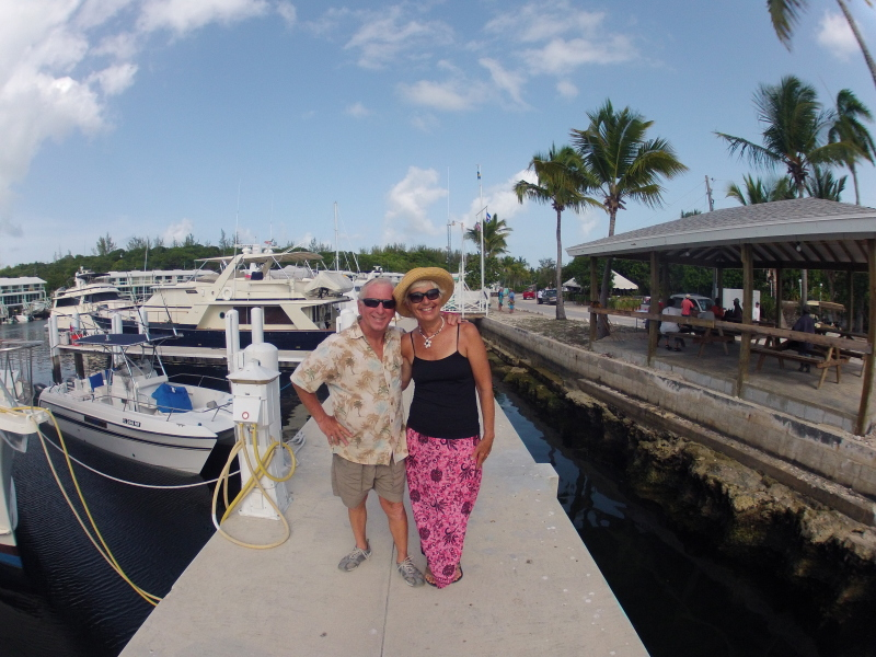 I could see straight down this dock from our boat and would often catch Mike grabbing Dottie's hand. Really sweet couple.
